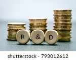 r d letter block and stack... | Shutterstock . vector #793012612