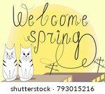 welcome spring inscription with ... | Shutterstock .eps vector #793015216