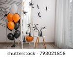 floor mirror with creative... | Shutterstock . vector #793021858