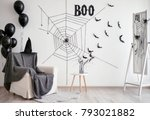 Interior Of Room Decorated For...