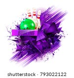 sample text. bowling ball... | Shutterstock .eps vector #793022122
