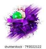 sample text. bowling ball... | Shutterstock .eps vector #793022122