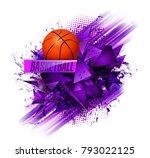 basketball ball and text...   Shutterstock .eps vector #793022125