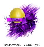 fitness text background ball | Shutterstock .eps vector #793022248