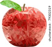 Mosaic A Red Apple
