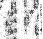 grunge texture. black and white ... | Shutterstock . vector #793027948