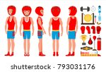 professional boxer boxing...   Shutterstock .eps vector #793031176
