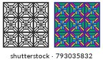 seamless repeat pattern. retro... | Shutterstock .eps vector #793035832