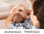 young mother with cute baby at... | Shutterstock . vector #793041622
