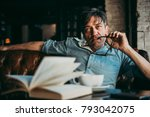 portrait of a mature confident... | Shutterstock . vector #793042075