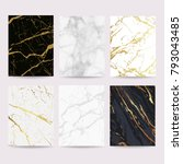 marble with golden texture... | Shutterstock .eps vector #793043485