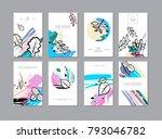 set of creative universal... | Shutterstock . vector #793046782