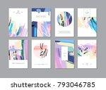 set of creative universal... | Shutterstock . vector #793046785