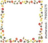 autumn fall leaf border | Shutterstock .eps vector #793052275
