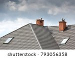 roof of a detached house with a ... | Shutterstock . vector #793056358