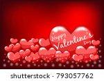 happy valentine's day lettering ... | Shutterstock .eps vector #793057762