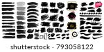 large set of black paint  ink... | Shutterstock .eps vector #793058122