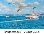 sea voyage with old ferry  ... | Shutterstock . vector #793059616