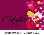 valentine greeting card design... | Shutterstock .eps vector #793064668