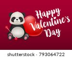 happy valentines day lettering... | Shutterstock .eps vector #793064722