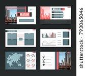 presentation horizontal screen... | Shutterstock . vector #793065046