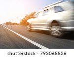 cars are driven on high speed... | Shutterstock . vector #793068826