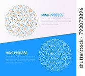mind process concept in circle...   Shutterstock .eps vector #793073896