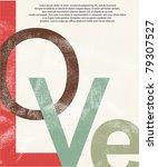 old love print background   Shutterstock .eps vector #79307527