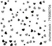 hearts confetti  bright...   Shutterstock .eps vector #793080706