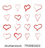 hand drawn heart for your... | Shutterstock .eps vector #793082602