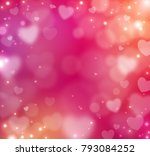 happy valentine's day blur... | Shutterstock .eps vector #793084252