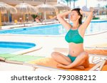 woman recreating on summer... | Shutterstock . vector #793088212