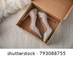 box with pair of sparkly female ... | Shutterstock . vector #793088755