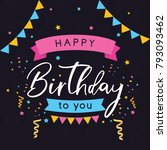 vector colorful greeting card... | Shutterstock .eps vector #793093462