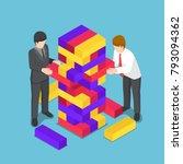 flat 3d isometric business... | Shutterstock .eps vector #793094362