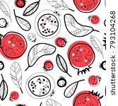 garnet seamless pattern.   Shutterstock .eps vector #793104268