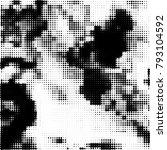 black and white halftone.... | Shutterstock .eps vector #793104592