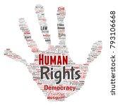 vector conceptual human rights... | Shutterstock .eps vector #793106668