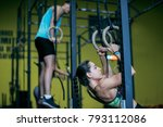 ring training at gym for young... | Shutterstock . vector #793112086