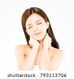 closeup young beauty and... | Shutterstock . vector #793113706