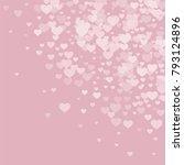 valentine background with... | Shutterstock .eps vector #793124896