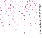 heart confetti beautifully... | Shutterstock .eps vector #793127308