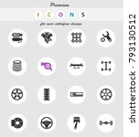 auto tuning vector icons for... | Shutterstock .eps vector #793130512
