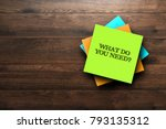 what do you need  the phrase is ... | Shutterstock . vector #793135312