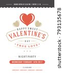 happy valentines day party... | Shutterstock .eps vector #793135678