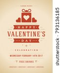 happy valentines day party... | Shutterstock .eps vector #793136185
