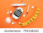 """composition with word """"diabetes""""...   Shutterstock . vector #793138162"""