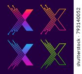 letter x colorful logotype... | Shutterstock .eps vector #793140052
