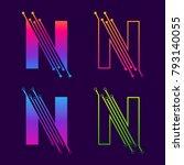 letter n colorful logotype... | Shutterstock .eps vector #793140055