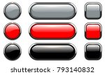 glossy buttons set with... | Shutterstock .eps vector #793140832